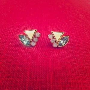 Silpada KR Gold & Blue/Green Stud Earrings